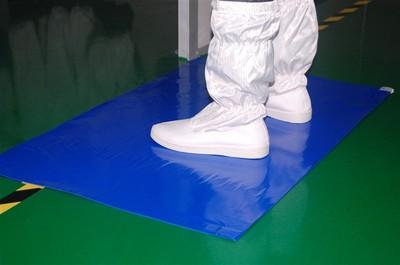 Thảm dính bụi chống tĩnh điện sàn phòng sạch màu xanh