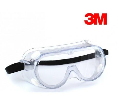 Kính bảo hộ 3M 1621/1621AF chống hóa chất, chống mờ kính
