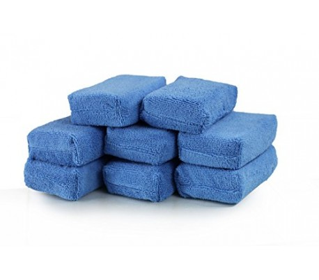 Applicator xanh để bôi wax Chemical Guys Microfiber