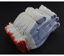 Găng tay phủ hạt nhựa PVC