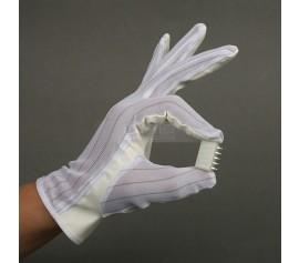 Găng tay vải một mặt bọc PU chống tĩnh điện